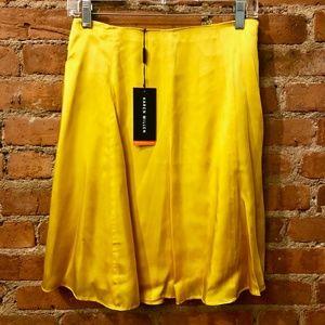 Karen Millen Silk Yellow Skirt with tag